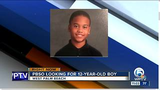 PBSO searching for missing 12-year-old boy near West Palm Beach - Video