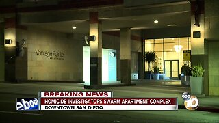 Police investigate homicide in downtown high rise