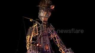 Cornwall's giant Man Engine tin puppet comes back to life - Video