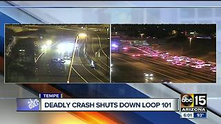 Motorcyclist killed after multi-vehicle wreck on Loop 101 at US-60 - Video