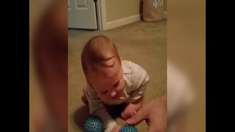 Baby Cracks up About the Silliest Thing!