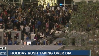 Holiday travel rush Friday evening update - Video