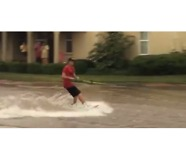 Student Wakeboards In Flooded Street at Texas Tech - Video