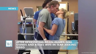 After Devastating Brain Injury, SEAL Stands And Kisses Wife In Tear-Jerking Video - Video
