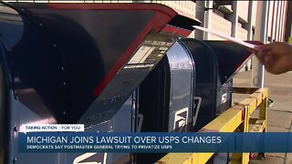 Michigan joins lawsuit over USPS changes