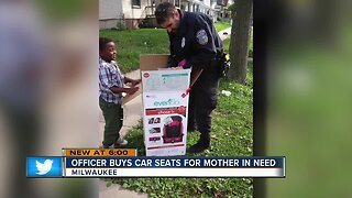 Milwaukee Police Department officer buys car seats instead of giving ticket