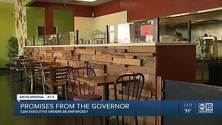 Can Gov. Ducey's Executive Orders be enforced?