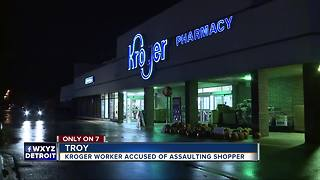 Metro Detroit woman alleges bizarre encounters, assault in Kroger store - Video