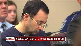 Judge sentences Nassar to 40-175 years in prison: 'I just signed your death warrant' - Video