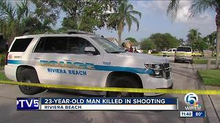 23-year-old man killed in Riviera Beach drive-by shooting - Video