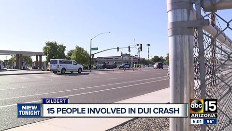 15 people involved in DUI crash in Gilbert