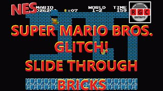 Super Mario Bros. Glitch - Slide Through Bricks