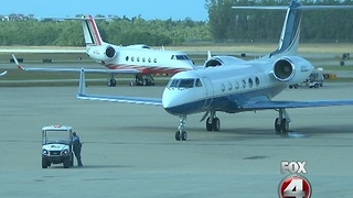 Busiest day at Naples Airport - Video