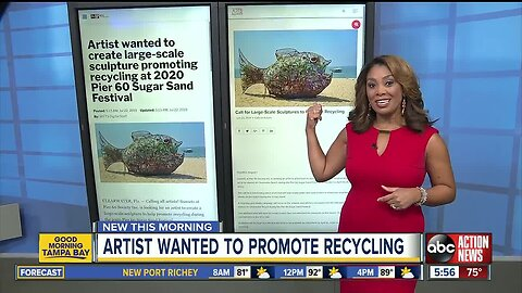 Artist wanted to promote recycling at Sugar Sand Festival