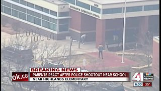 Parents rush to pick up kids after gunfire near school