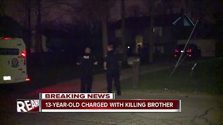 13-year-old charged with killing brother - Video