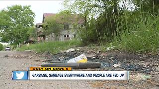 East Cleveland residents fed up with illegal dumping on city streets - Video