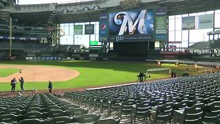 Miller Park Grounds Crew prepares for Opening Day - Video