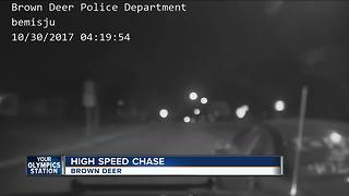 Dash cam captures Brown Deer PD chase with battery thieves - Video