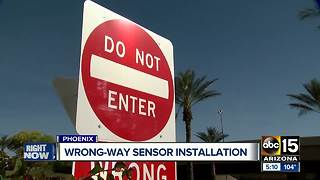 Camera system being installed to stop wrong-way drivers - Video