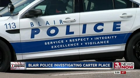 Blair Police Investigating Carter Place
