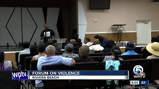 Forum on violence held in Riviera Beach
