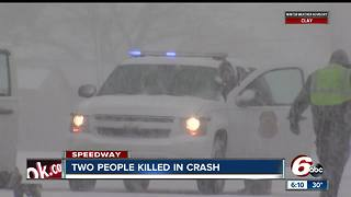 Two people killed in crash in Speedway - Video