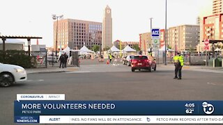 Call for volunteers at Petco vaccination super station