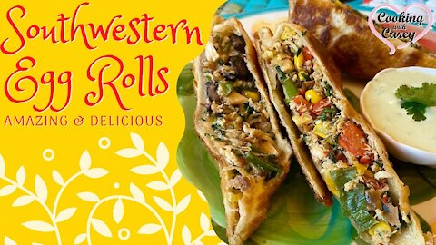 The Best Southwestern Egg rolls with Avocado ranch sauce, Better than the restaurants