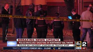 Officer-involved shooting in Northwest Baltimore - Video