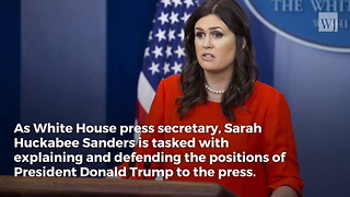 Sarah Sanders Defends Trump, Causes MSNBC Host to Suffer On-Air Meltdown - Video