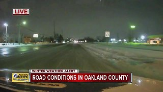 Road conditions in Oakland County - Video