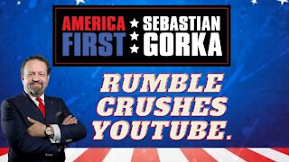 Rumble crushes YouTube. Caller with Sebastian Gorka on AMERICA First