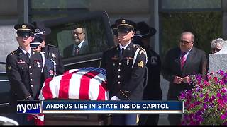 Former Idaho Governor Cecil Andrus lying in state at Capitol