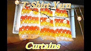 How to Crochet Easy and Fun Curtains with T-Shirt Yarn