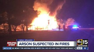 Arson suspected in string of Casa Grande fires - Video