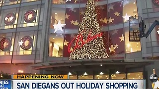 San Diegans out holiday shopping - Video