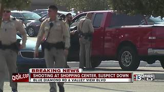 Shooting reported at store on Blue Diamond Road - Video