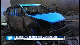 Wheelchair accessible van stolen on Christmas, found burned - Video