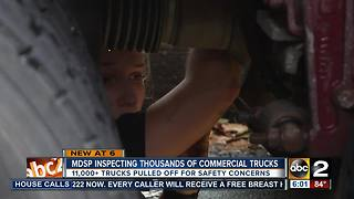 Maryland State Police rank #1 nationally for safety inspections on commercial vehicles - Video