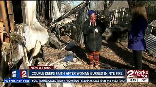 Woman suffers burns after New Year's fire