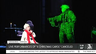 Live performances of 'A Christmas Carol' canceled