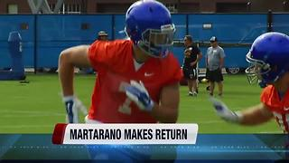 Former Bronco Joe Martarno returns to Boise - Video