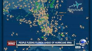 People fleeing Florida ahead of Hurricane Irma
