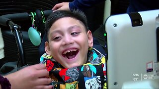 Palmetto boy with cerebral palsy becomes a national inspiration