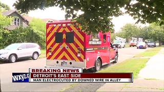 Man electrocuted by downed wire - Video