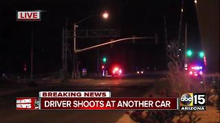Driver shoots at another car in Buckeye