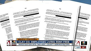 Clay County employees living rent-free