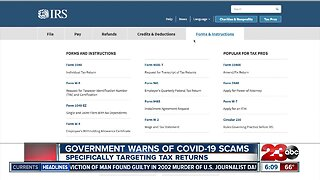 Government Warns of COVID-19 scams