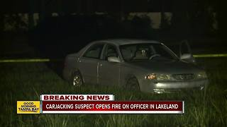Officer shoots armed carjacker in Lakeland - Video